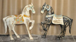 White or Brown Wooden Horse