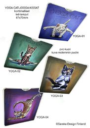LED-torch, Yoga Cat, 4 pcs