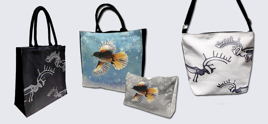 Totebags, sling bags and backbags
