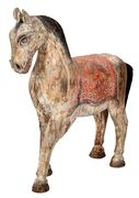 Indian horse statues with old patina 47 x 58 cm