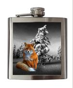 Hip Flask, Steel,  Fox