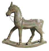 Wooden rocking horse 56x53 cm