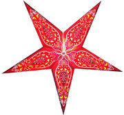 Red Kalash - Star,  Glitter Screen Print, 60 cm