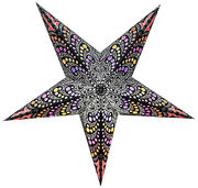 Black-based Hella star, 60 cm