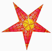 Red Yellow Floral Offset Print Star,  60 cm