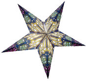 Blue-based Burj star, 60 cm