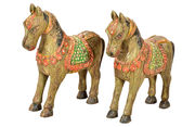 Indian horse statues with old patina 45x55cm