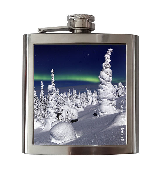 Steel Hip Flask, Frozen Winterday