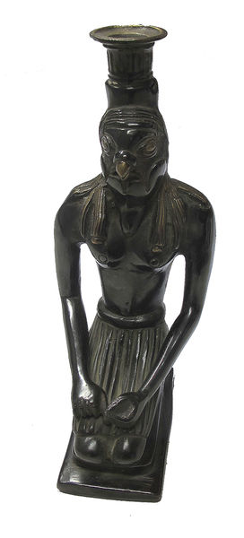 Bronze Horus candle stand