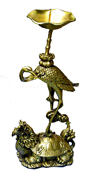 Vietnamese incence or candle stand, bronze,