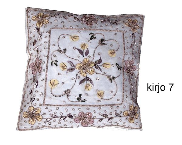 Hand embroidered cushion cover 40x40cm