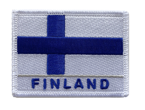 Finnish Flag Iron-on patch,